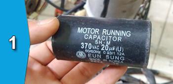 Sửa - thay tụ điện motor cửa cuốn